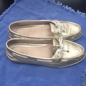 Women's Gold Sperry's. Size 10
